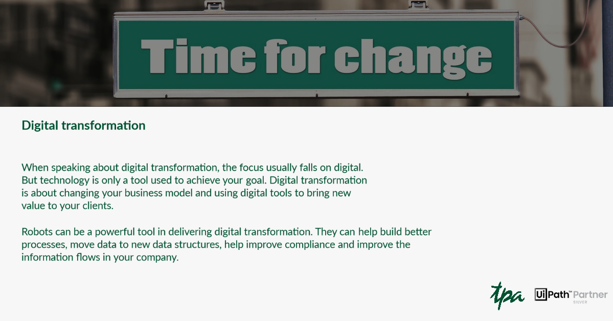 D is for Digital Transformation